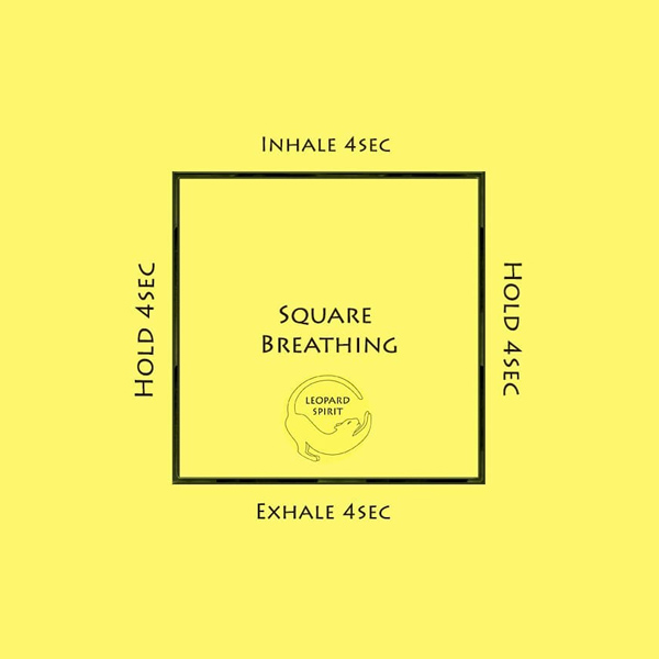 Relieve stress with square breathing
